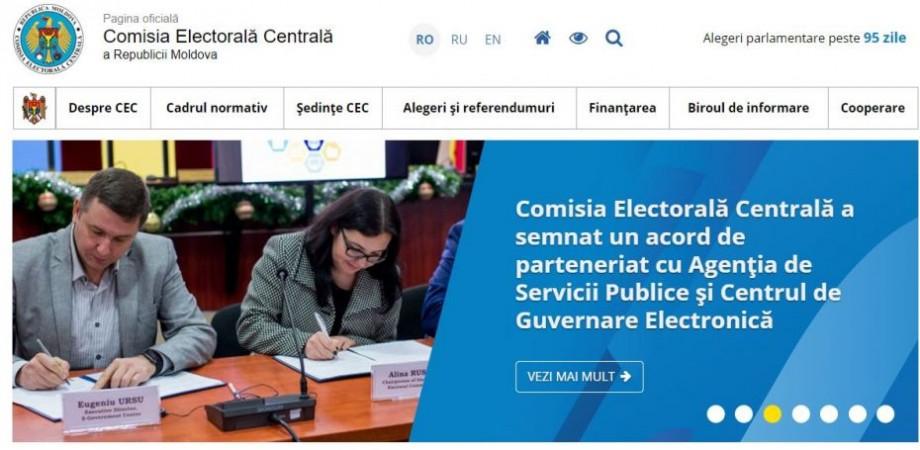 Comisia Electorală Centrală lansează o versiune nouă a paginii-web oficiale