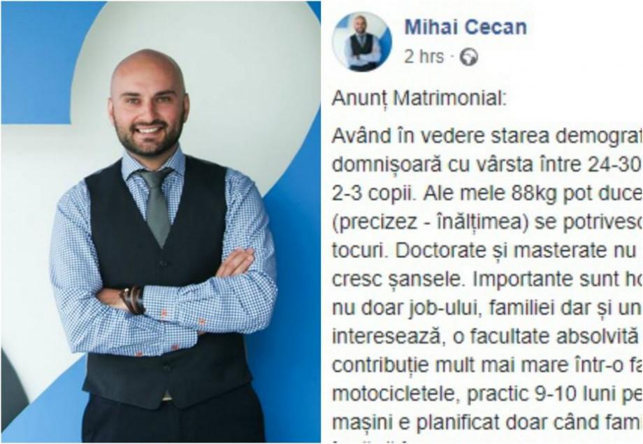 """Un tânăr din Moldova își caută soție prin intermediul unui status pe Facebook: """"Hobby-urile sunt cele mai importante"""""""