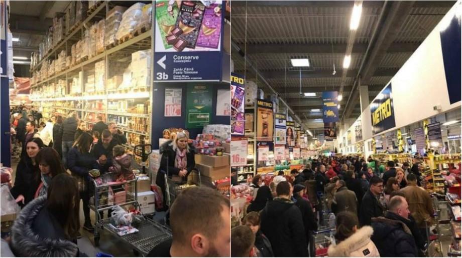 (foto) Cumpărături pe ultima sută de metri. Cum arată magazinele din Chișinău înainte de  Revelion