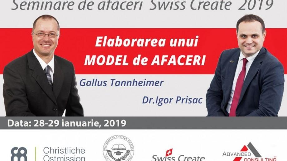 Dorești să inițiezi sau să dezvolți o afacere într-un mod profesionist? Participă la seminarele Swiss Create