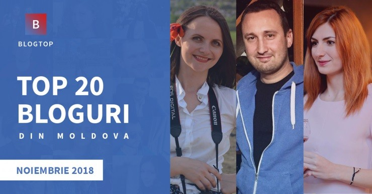BlogTop a desemnat cele mai populare 20 de bloguri din Moldova, în luna noiembrie 2018