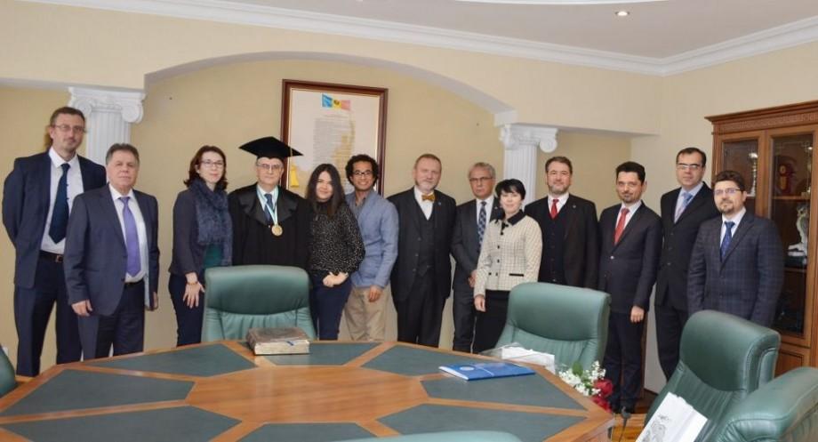Delegația Universității din București a vizitat Universitatea de Stat din Moldova