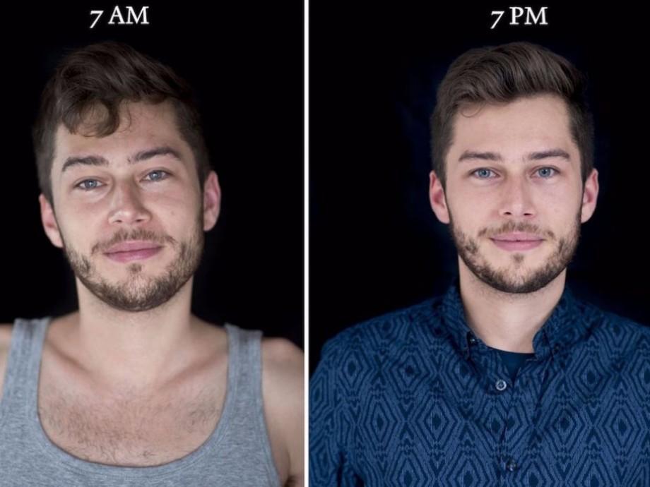 (foto) Fotografii care îți arată cât de mult se schimba înfățișarea oamenilor la 7 dimineața și 7 seara