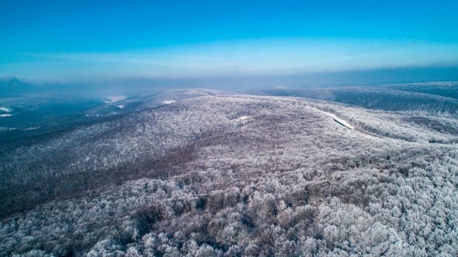 (foto) În straie albe de zăpadă. Povestea iernii din Moldova într-o serie de fotografii realizate cu drona