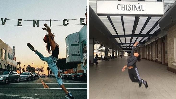(foto) În societatea noastră celebritățile ar arăta altfel. O tânără din Moldova parodiază vedetele pe Instagram