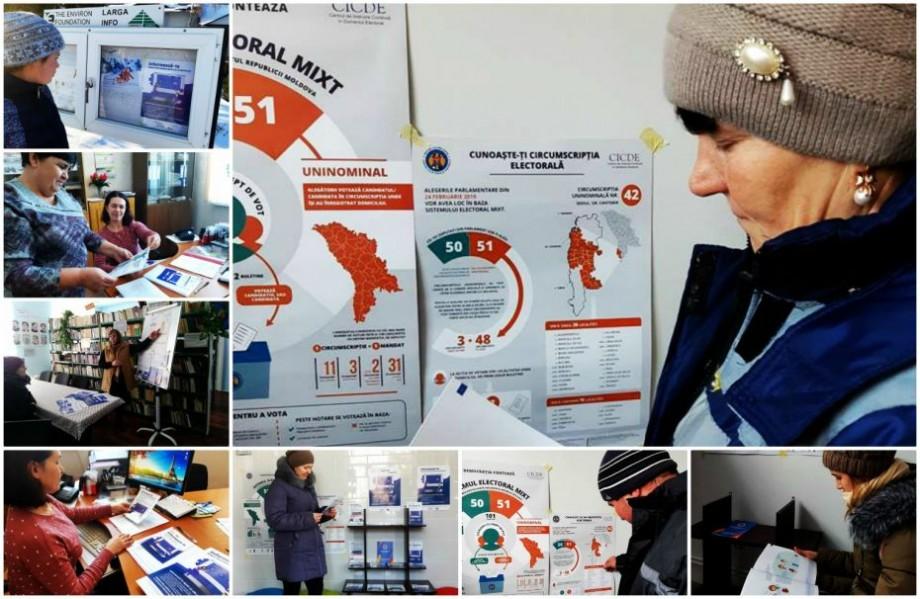 (foto) Cum se desfășoară campania de informare a alegătorilor în bibliotecile publice locale și cât de deschiși sunt cetățenii