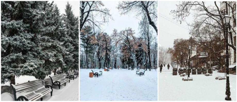 (foto) Povestea iernii din Moldova s-a mutat pe Instagram. Cum au surprins internauții ninsoarea de astăzi