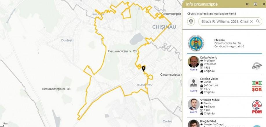 Botul de pe telegram #diez și Royal Map care îți arată pe ce circumscripție vei vota și informații despre candidați