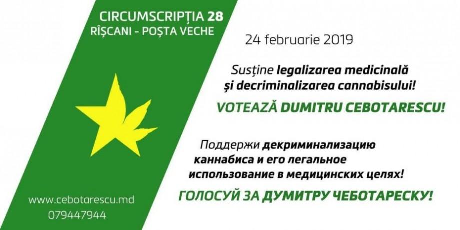 Care sunt prioritățile candidatului Dumitru Cebotarescu în Parlament, pe lângă legalizarea canabisului