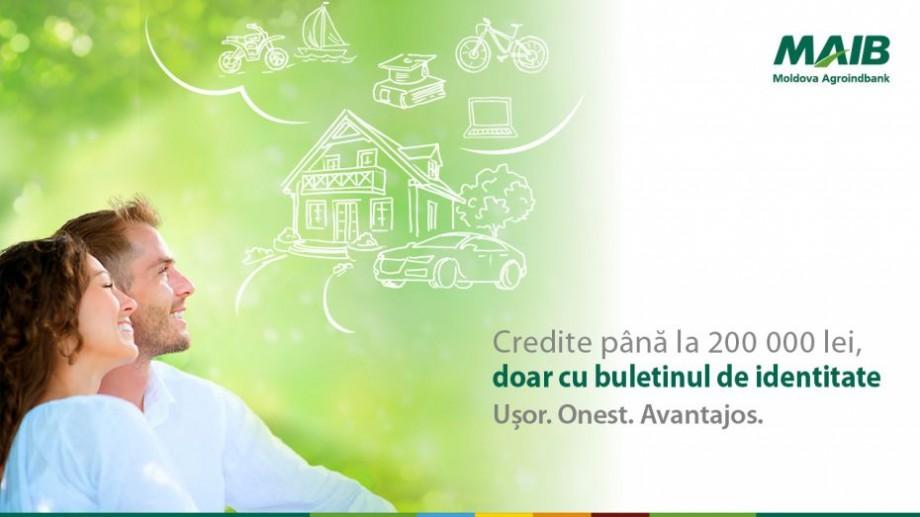 Moldova Agroindbank oferă credite de până la 200 000 lei, doar cu buletinul