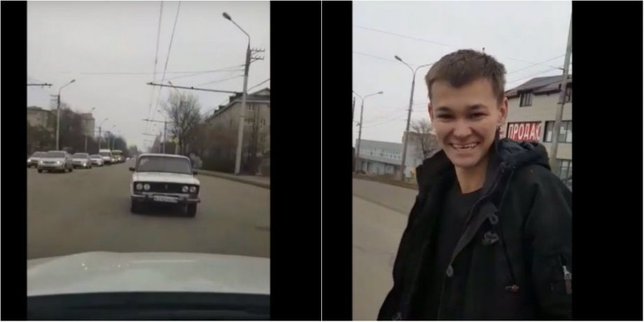 """(video) Un tânăr din Rusia a făcut dintr-un Jiguli o adevărată """"creație artistică"""". Poliția l-a obligat să predea mașina  la fier vechi"""