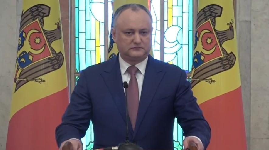 """(video) Igor Dodon: """"Dacă partidele nu vor găsi limbă comună, voi pleda pentru alegeri anticipate"""""""