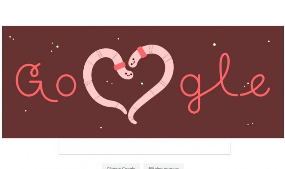 (foto) Google omagiază cu un Doodle special Ziua Îndrăgostiților
