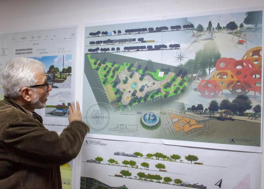 (foto) Cum ar putea arăta curțile blocurilor din Chișinău, dacă ar fi reconstruite după planurile studenților de la UTM