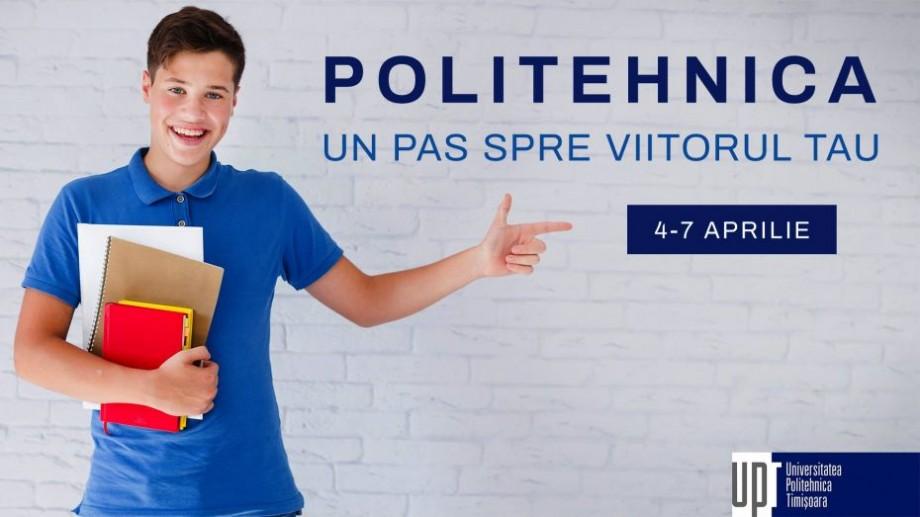"""10 motive să participi în cadrul proiectului """"Politehnica Timișoara – un pas spre viitorul tău"""""""