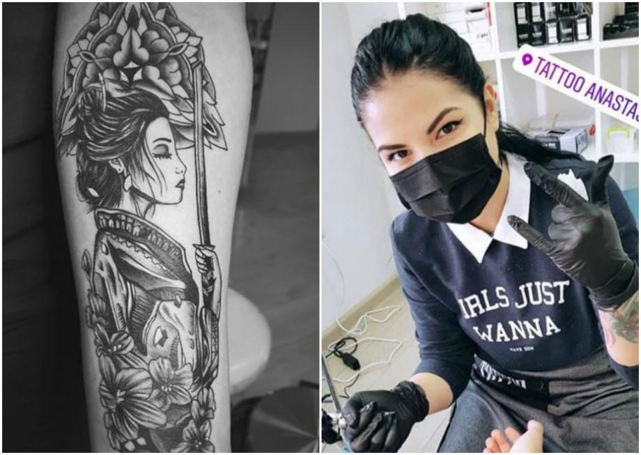 (video) Unde-s tinerii: Face tatuaje de la 15 ani. Cunoaște-o pe Anastasia Popa, artista care transpune povești pe piele