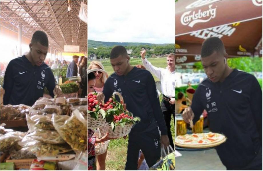 """(foto) A ajuns la Piață Centrală, a băut vin și a mâncat hrișcă în PMAN. Cum """"l-au ajutat"""" internauții pe Mbappe să călătorească prin Moldova"""