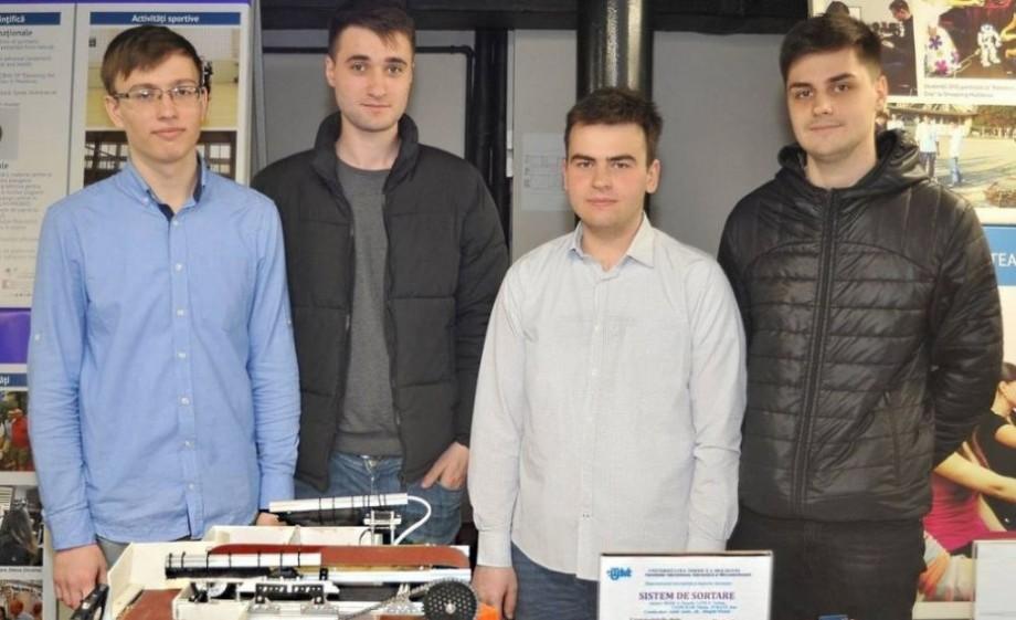 (video) Patru studenții de la UTM au elaborat prototipul unei stații de sortare pentru prelucrarea deșeurilor