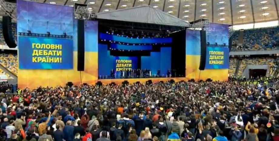 (live video) La Kiev are loc dezbaterea electorală între Poroșenko și Zelenski, candidații la președinția Ucrainei