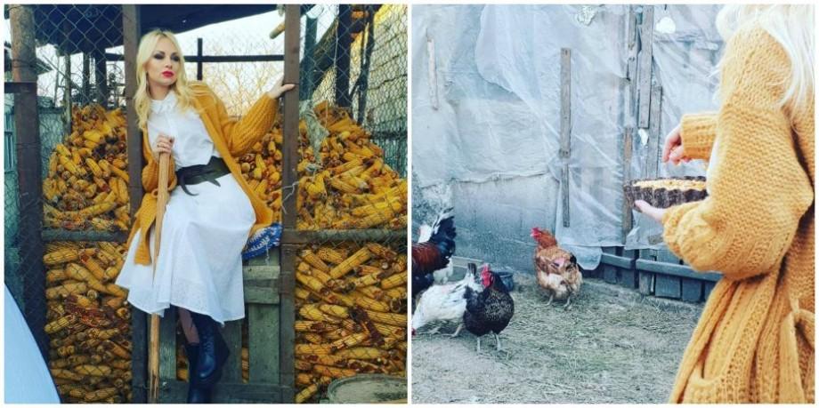 (foto) Un pictorial de VIP Magazin prezintă cum se integra Marina Tauber în realitățile vieții rurale de la Jora de Mijloc