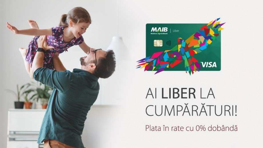 """Moldova Agroindbank lansează """"Liber card"""" şi dă plus de libertate la cumpărături"""