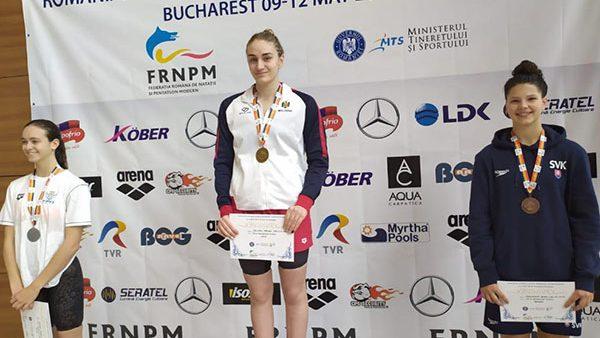 Sportiva din Moldova, Tatiana Salcuțan, a fost aleasă cea mai bună înotătoare a Campionatului deschis al României