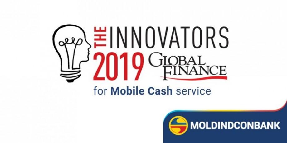 Moldindconbank, recunoscută drept cea mai inovativă bancă din Moldova