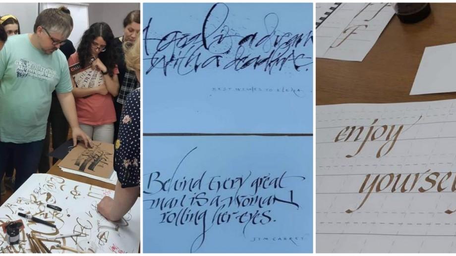 (foto) Mai mulți liceeni și studenți au descoperit arta inscripțiilor caligrafice, în cadrul unui workshop, organizat la UTM