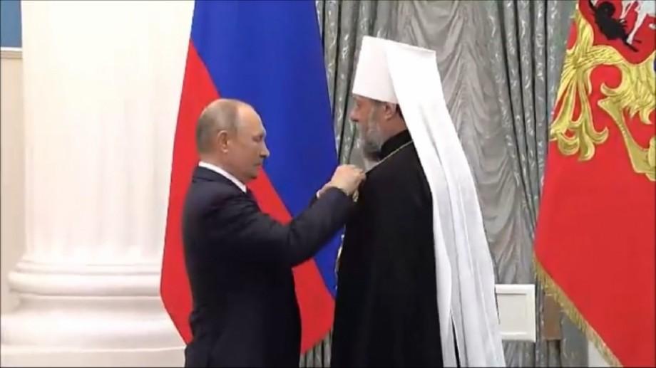 "(foto, video) Vladimir Putin l-a decorat pe Mitropolitul Vladimir cu ""Ordinul Prieteniei"""
