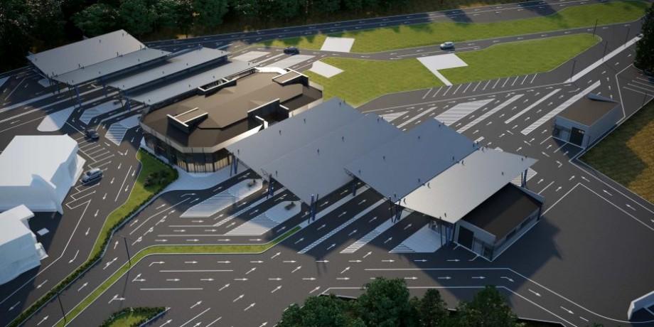 (foto) Cum va arăta postul vamal de la Sculeni, după modernizare și extindere. Costul proiectului este de 5 milioane de euro