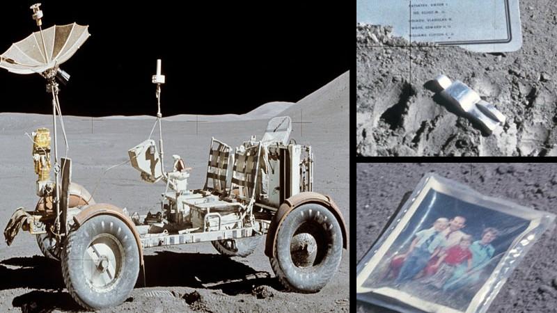 96 de pungi de excremente, o fotografie sau un telescop. Cele mai ciudate obiecte pe care le-au lăsat oamenii pe Lună