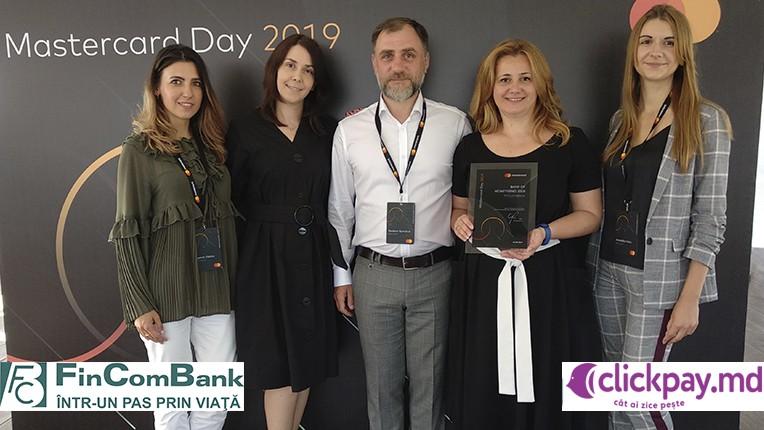 FinComBank a fost onorată de către Mastercard pentru implimentarea și promovarea transferurilor inovatoare de la card la card