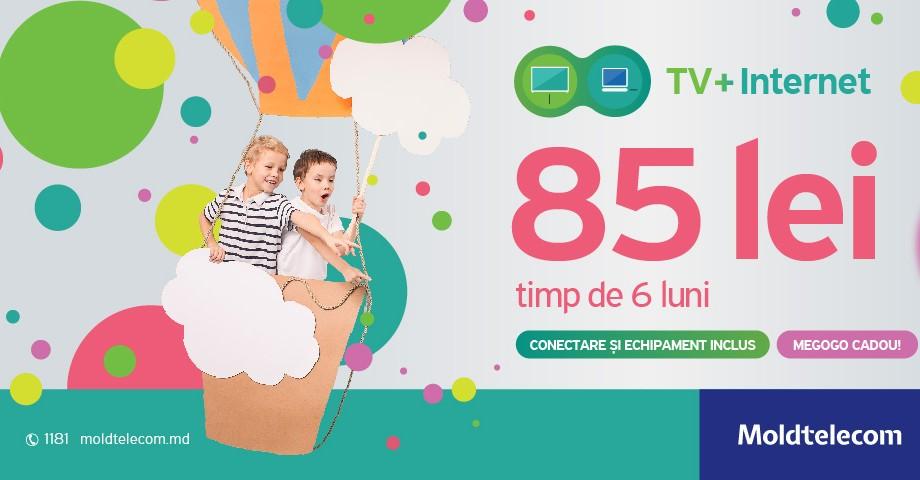 Televiziune digitală şi Internet de mare viteză de la Moldtelecom la doar 85 lei pe lună
