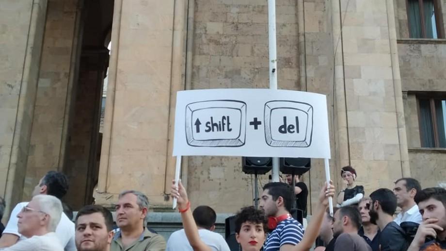 (foto, video) Cum a decurs seara de sâmbătă de proteste din Georgia văzută de reportera #diez