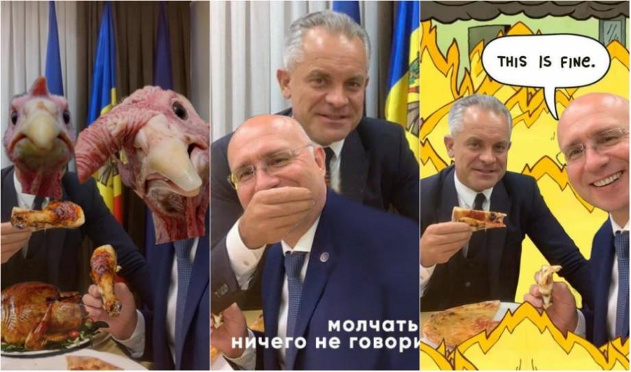 (foto) Cele mai gustoase și savuroase meme-uri de la cina echipei lui Plahotniuc și Filip