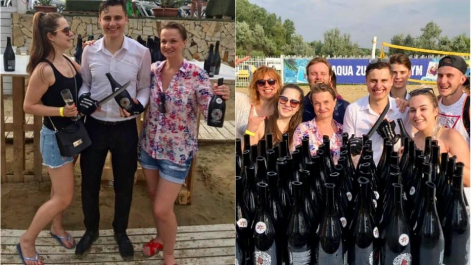 (foto, video) 79 de sticle în 60 de secunde. Cel mai tânăr sommelier din Moldova a înregistrat două recorduri demne de Guinness Book