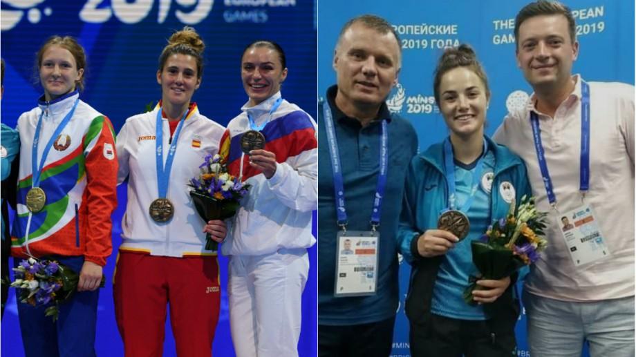 Sambistele din Moldova, Paulina Eșanu și Sabina Artemciuc, au urcat pe podium la Jocurile Europene de la Minsk