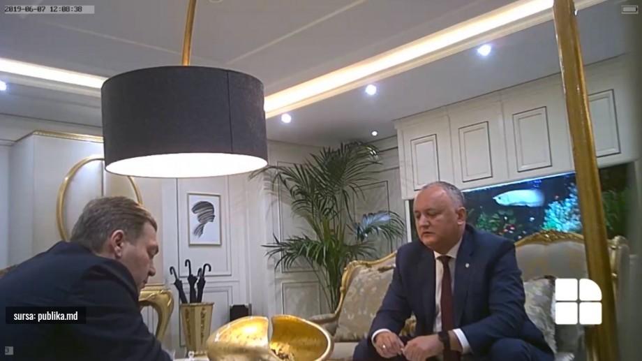 (video) O nouă înregistrare, de data aceasta doar cu Dodon și Iaralov, a apărut pe site-ul televiziunii Publika TV