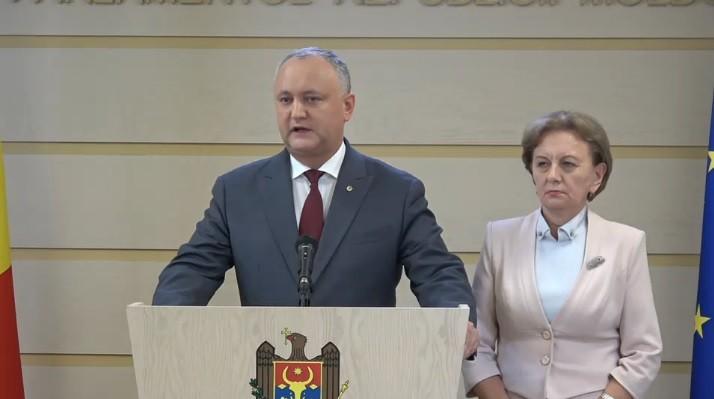 """(video) Reacția lui Igor Dodon după demisia Guvernului Filip: """"Știm ce s-a întâmplat în aceste 7 zile"""""""