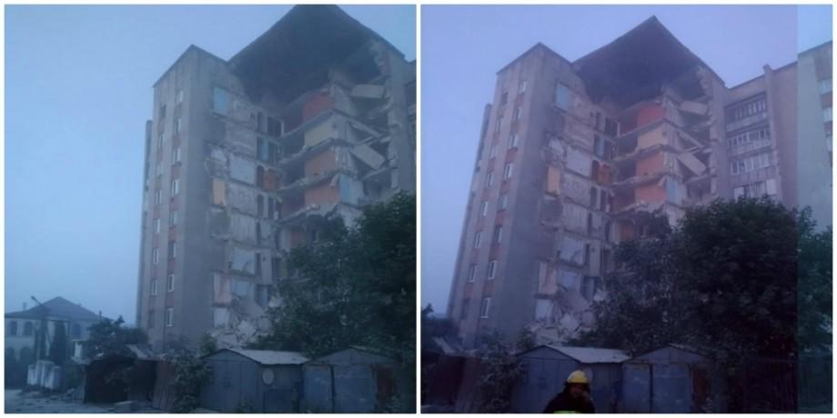 (video) UPDATE O clădire de nouă etaje din raionul Ocnița s-a prăbușit. Salvatorii au verificat dacă nu sunt oameni sub dărâmături