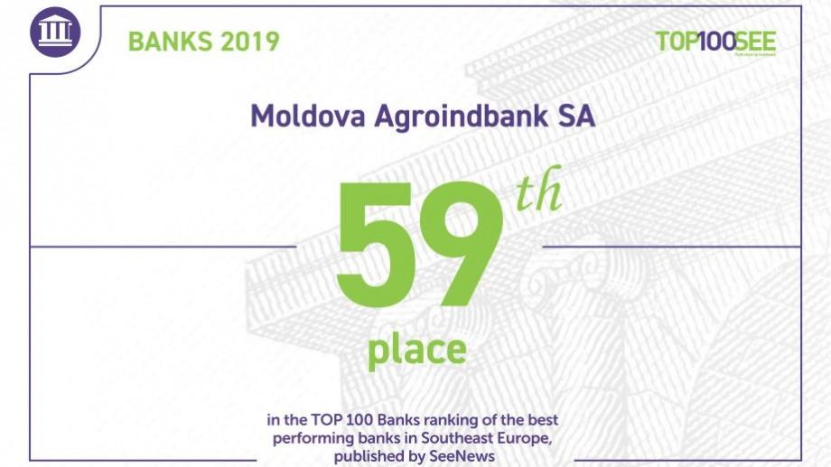 """Am urcat 8 poziţii în clasamentul """"Top 100 bănci din Europa de Sud Est"""" şi ne ambiţionăm să fim MAI Buni"""