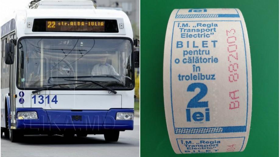 Pasagerii care călătoresc cu troleibuzul vor avea parte de alte bilete. Cum vor arăta acestea
