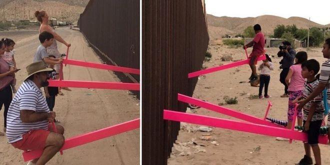 (video) Copiii din SUA și Mexic se pot da în scrânciob împreună. Doi profesori au proiectat un leagăn la frontieră