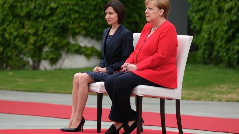 Ce i-a zis Angela Merkel la întâlnirea cu Maia Sandu despre coaliția cu PSRM