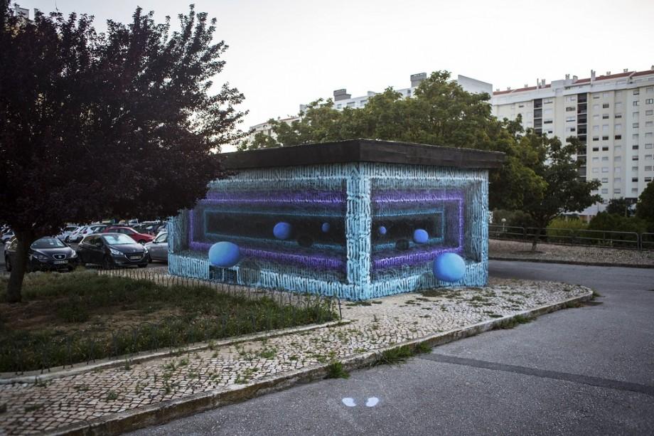 """(foto) Muralele lui iZZY iZVNE au ajuns în Portugalia. Artista din Moldova a participat la festivalul """"Loures Art Publica"""""""