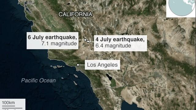 Sudul Californiei a fost zguduit de un cutremur cu magnitudinea de 7,1 grade pe scara Richter