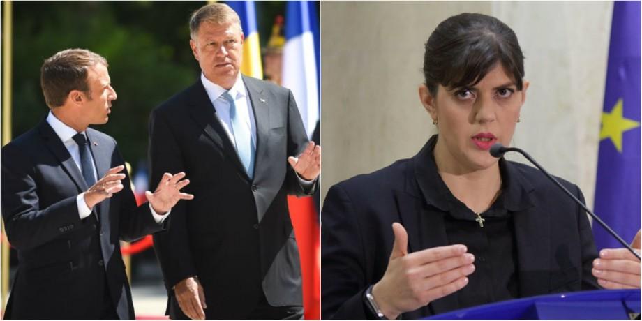 Președintele Franței i-a promis lui Iohannis că va retrage candidatura lui Bohnert şi o va susţine pe Kovesi la şefia Parchetului European