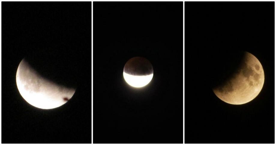 (foto) Farmec și mister. Cum au surprins internauții din Moldova eclipsa parțială de lună din seara trecută