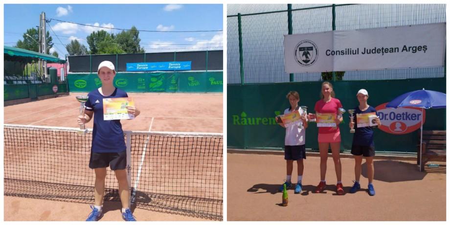 """Jucătoarea de tenis din Moldova, Vlada Haețcaia, a câștigat turneul european """"Argeș Cup"""""""