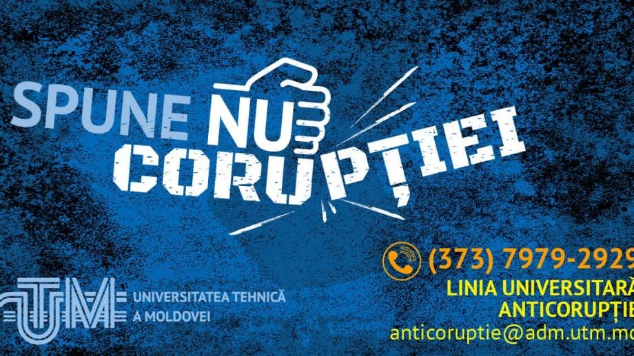 Universitatea Tehnică a Moldovei lansează o campanie prin care îndeamnă denunțarea cazurilor de corupție